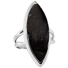 Shungite 925 Sterling Silver Ring Jewelry s.8 SNGR599 - JJDesignerJewelry