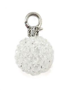 Damen Charm Anhänger Glasperle, weiss von Fashion Jewelry bei www.meinkleidchen.de
