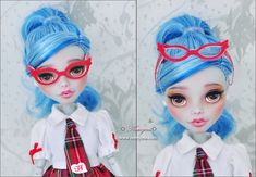monster high doll ghoulia yelps face up by nomyens
