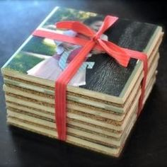 Personalized Coasters - using picture tranfer