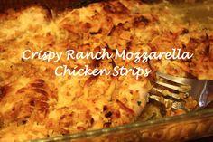 Crispy Ranch Mozzarella Chicken Strips Recipe