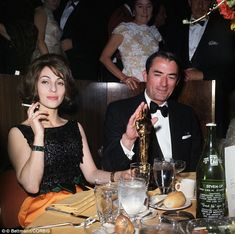 Oscar winner: Gregory Peck and his wife on the night when he won an Oscar for the film, To Kill a Mockingbird