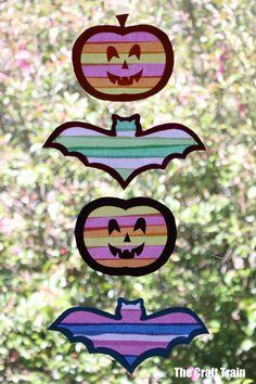 halloween tissue paper suncatchers | The Craft Train