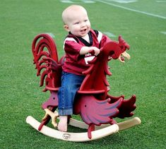 Yep, my dream house will have a gamecock rocking horse in the back yard. maybe even on the front porch! Gamecock Nation, Gamecocks Football, Little Man, Little Ones, South Carolina Gamecocks, Carolina Football, Cutest Thing Ever, Future Baby, Baby Love