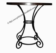 Wrought Iron Table Base Handmade for Coffee Tables, Dining Table, etc (Multiple Sizes)