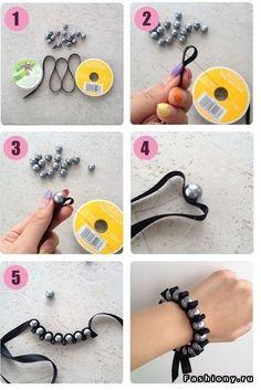 Браслеты своими руками 2 / показать как сделать браслет своими руками из ленточек