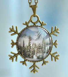 Steampunk Frozen necklace