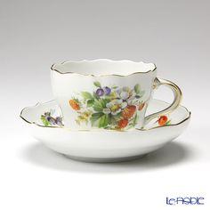 マイセン(Meissen) 果物文様 240210/00582 コーヒーカップ&ソーサー 200cc