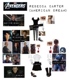 """Rebecca Carter (American Dream) in """"The Avengers"""" 5sos Outfits, Tv Show Outfits, Fandom Outfits, College Outfits, Marvel Inspired Outfits, Disney Themed Outfits, Character Inspired Outfits, Trendy Outfits For Teens, Teen Fashion Outfits"""