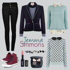 Jemma Simmons © Sophie Brown via Polyvore