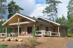 Hermosa casa de tronco de madera  ideal para ser construida como segunda vivienda
