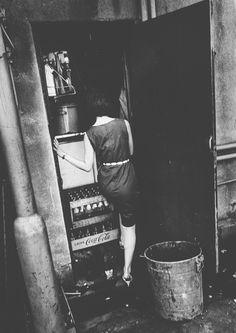 The backdoor of a shop, Tokyo, Japan, 1965, photograph by Daido Moriyama.
