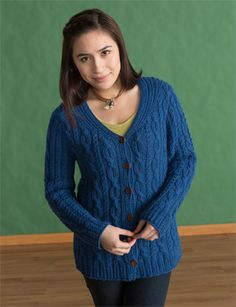 Champagne At The Cabin Chenille Cardigan in Navy