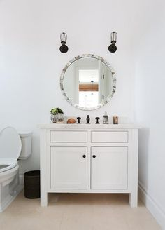 Oil Rubbed Bronze Faucet - Design photos, ideas and inspiration. Amazing gallery of interior design and decorating ideas of Oil Rubbed Bronze Faucet in bathrooms, laundry/mudrooms, kitchens by elite interior designers. Glass Bathroom, White Bathroom, Modern Bathroom, Design Bathroom, Bathroom Ideas, Moving To California, Transitional Bathroom, Minimalist Bathroom, Bathroom Styling
