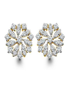 Daisy Diamond Earrings | diamonds4you.com  Round diamonds in a floral gold frame make for charming daily wear earrings! - See more at: http://www.diamonds4you.com/item/21303053.aspx#sthash.OVsAaBG6.dpuf