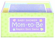 doubles as napkins for your guests and a fun quiz about the new baby and mom.