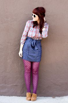 Love this outfit. Possibly different tights {for me}. i need to live on the edge though.