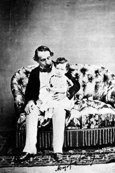 Emperor Napoléon III with the Prince Imperial, C.1860 Photographic Print