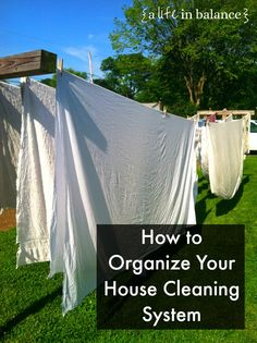 How to Organize Your House Cleaning System