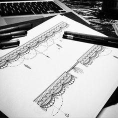 ⚡️petit projet de bracelet de cheville en dentelle ⚡️ #tattoo #tattoos #tatouage #tatouages #ink #art #lamaisonclosetatouage #lunderskin #paris #16eme #lacetattoo #laces #tatouagedentelle #tatouagebijou #jewel #jewelry #dentelle #anchor #sketch #dessin #croquis #bijou #bijoux