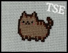 Kawaii Cat 1 Cross Stitch Printable PDF Pattern  by ThatsSewEllie - Very Adorable !!