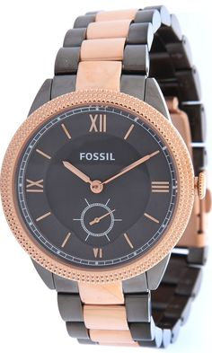 #Fossil #Watch , Fossil ES3068 Sydney Stainless Steel Watch Smoke and Rose
