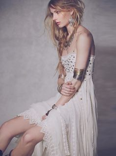 Shop Now: Free People Studded Lace Party Dress
