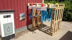 15 adorable recycled pallet ideas for kids - tuin - Pallet Crafts, Diy Pallet Projects, Design Projects, Kid Car Wash, Pallet Tree Houses, Ikea Trones, Pallet Kids, Pallet Playhouse, Outdoor Play Areas