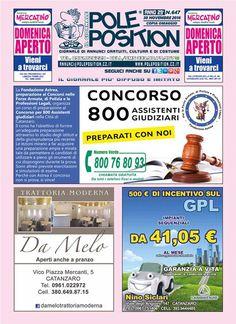 #PolePosition 647 - edizione del 30 novembre  Scarica il pdf del giornale: http://www.poleposition.cz.it/GIORNALE_647_web #Catanzaro #giornale #annunci #Calabria