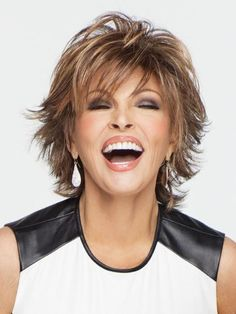 Find the Trend Setter Wig by Raquel Welch Wigs. Trend Setter is loaded with layers and adds fashion excitment with flipped textured ends. Pear Shaped Face, Raquel Welch Wigs, Funky Hairstyles, Layered Hairstyles, Hair Pictures, Hairstyle Pictures, Synthetic Wigs, Hair Dos, Your Hair