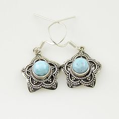 Genuine Larimar Solid Sterling Earrings. Starting at $1 on Tophatter.com!