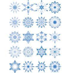Snowflakes vector image on VectorStock Adobe Illustrator, Snowflakes, Vector Free, Illustration, Image, Snow Flakes, Illustrations