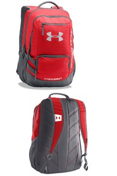 c4bcb0bb875a Bags and Backpacks 163537  Under Armour Storm Hustle Ii Backpack  1263964-600 Red -  BUY IT NOW ONLY   33.99 on eBay!