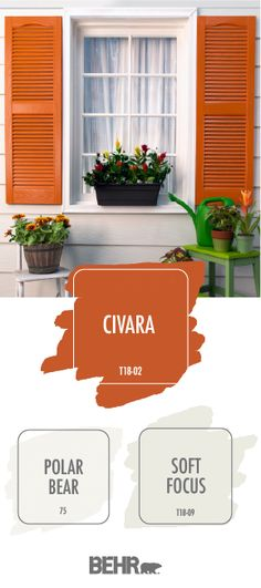 Splashes of bold colors on your windows, door frames or trim emphasize details of your home that . Male Model, Living Room Tv, Tuscan Style, Interior Design Tips, Exterior Paint, Exterior Shutters, House Painting, Curb Appeal, Paint Colors