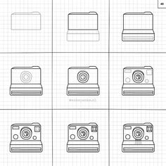 Learn how to draw #polaroid camera. This and much more in the #superrandomthingstodraw Available at ankepankesshop.nl or ankepankesshop.etsy.com