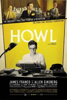 Howl Movie - A drama about the obscenity trial Allen Ginsberg (Franco centered) faces the publication of his poem. This movie IS a must-see.It is an eye opener.Yet subtle and sensitive in such incredible ways. Allen Ginsberg, Great Movies, New Movies, Movies To Watch, Movies Online, Indie Movies, James Franco, Mary And Max, Howl Movie