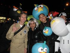 Angry Birds by Rob Boudon, via Flickr - hats made from lanterns - how cool!!