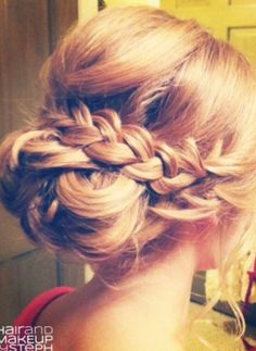updo option for Sara's wedding - love a braid