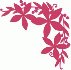 Silhouette Design Store - View Design #71927: poinsettia corner flourish