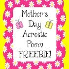 Read think write acrostic poems for mother