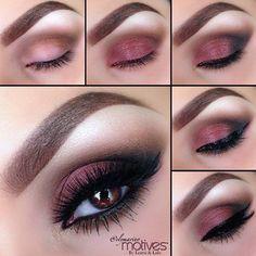 Eye Make-up Motives by Loren Ridinger Motives Cosmetics Gorgeous Makeup, Pretty Makeup, Love Makeup, Perfect Makeup, Makeup For Black Dress, Sleek Makeup, Purple Makeup, Basic Makeup, Amazing Makeup