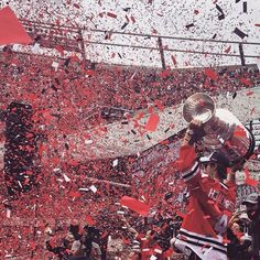 Chicago celebrates the Blackhawks Stanley Cup win 2015.