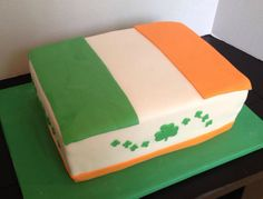 Irish flag cake.