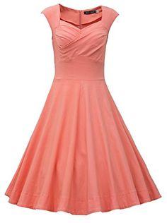 Fashion Bug Plus Size Women's 50s 60s Vintage Cocktail Rockabilly Swing Party Dress www.fashionbug.us #plussize #fashionbug #vintage #pinup #rockabilly 1X 2X 3X 4X 5X