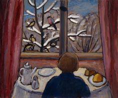 Gabriele Münter, 1908, Breakfast of the Birds on ArtStack #gabriele-munter-1908 #art