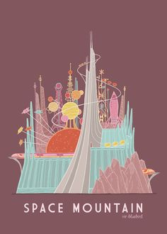 space mountain. Absolutely love this! #DisneySide