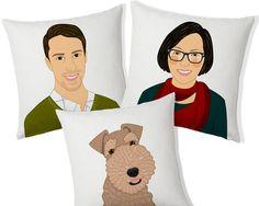 Pillow set. Custom portrait pillow. Couple and #housewares #pillow @EtsyMktgTool http://etsy.me/2y9USDc #printedcushion #printedpillow