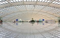 Interiors: Beijing Airport, Norman Foster. Completed as the gateway to the city for the twenty-ninth Olympiad in 2008, Beijing's international terminal is the world's largest and most advanced airport.