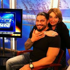 Roman Reigns doing a local interview.
