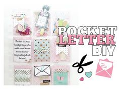 How To Make A Pocket Letter DIY - YouTube